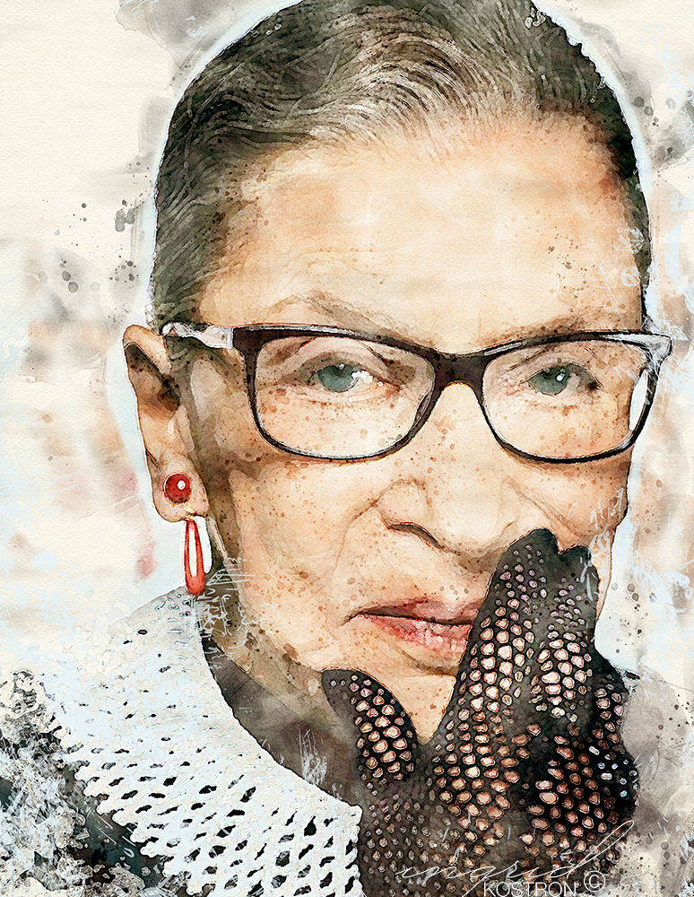 Ruth Bader-Ginsberg, collection of the artist ©Time Magazine